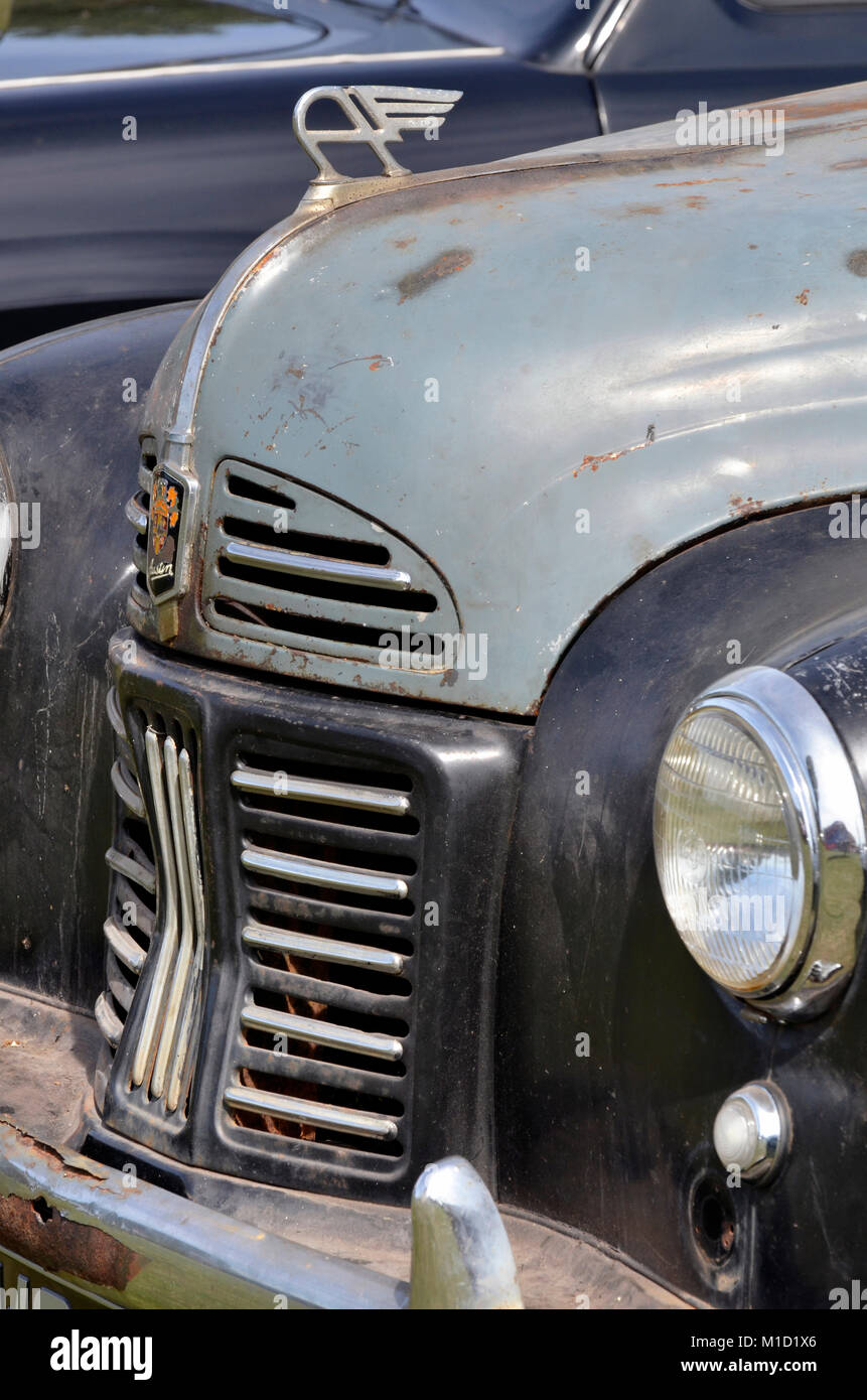 vintage austin A40 pickup truck front - Stock Image