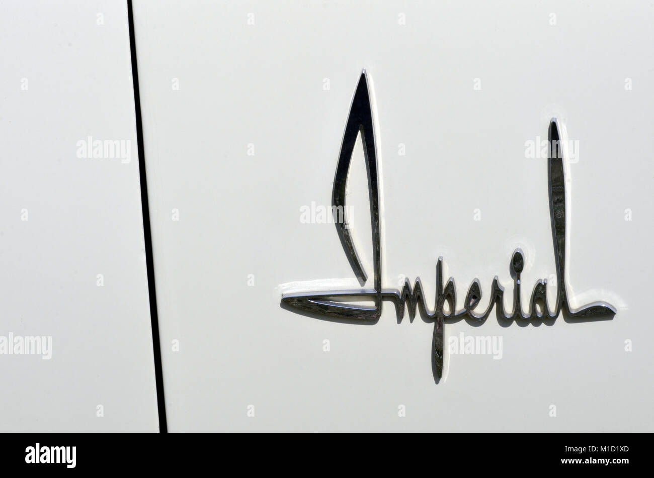 imperial car name badge - Stock Image