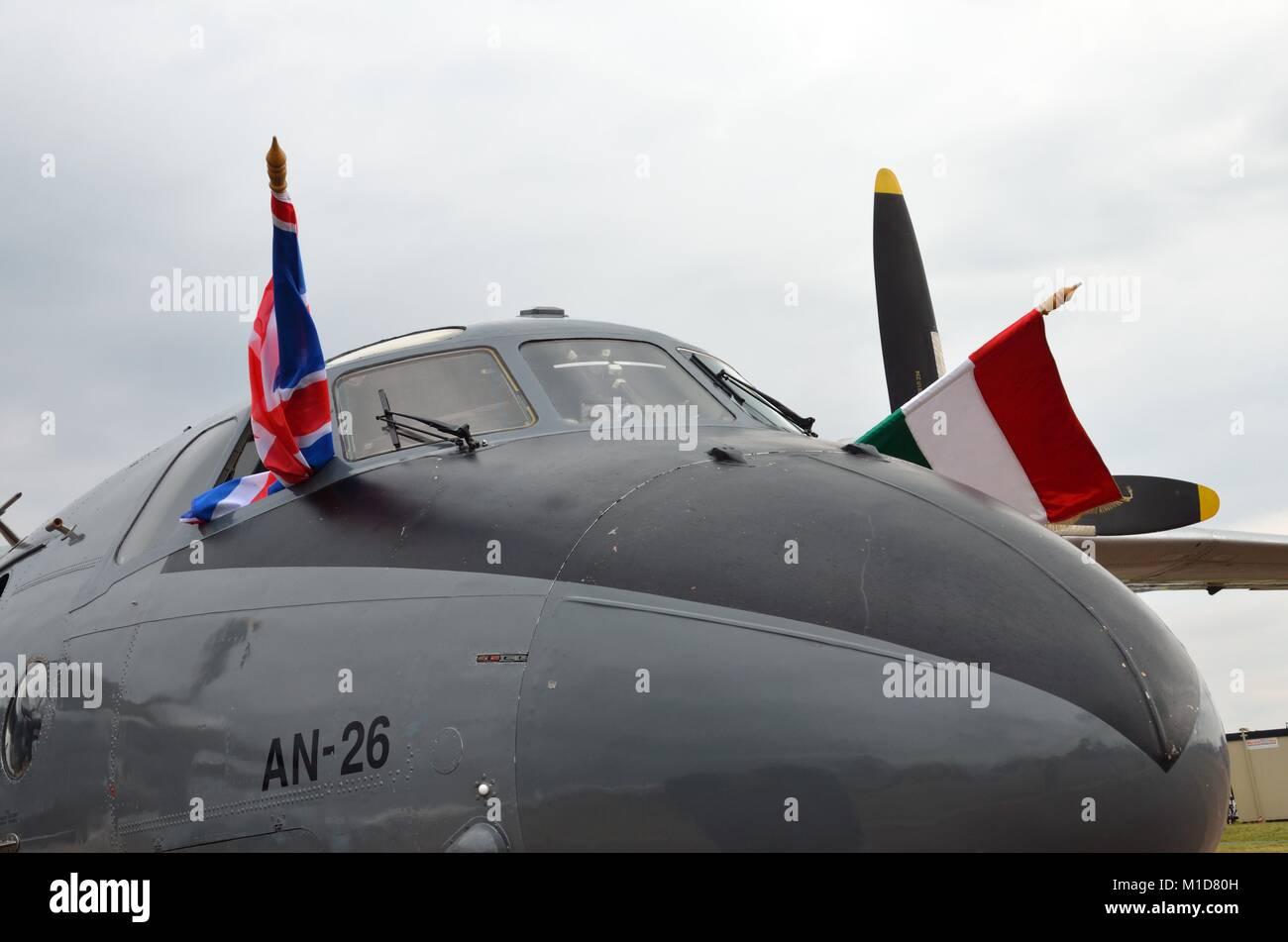 Antonov AN-26, Hungarian Air Force, RIAT 2014 - Stock Image