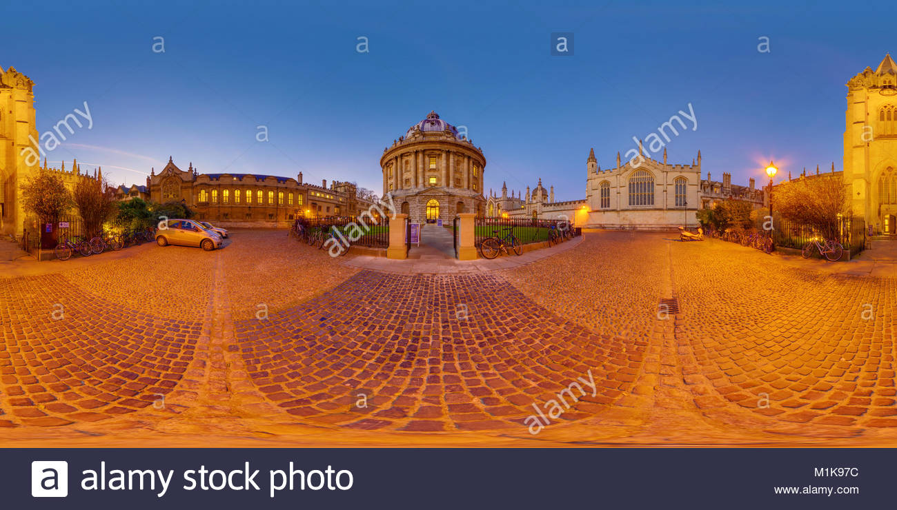 Radcliffe Camera, University Church of St. Mary, Oxford University, UK - Stock Image