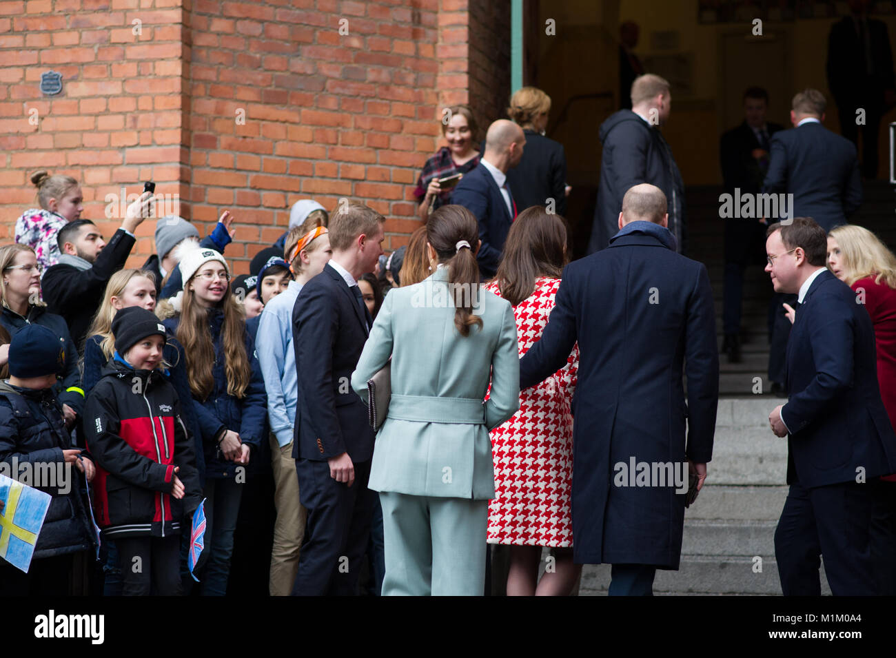 Stockholm, Sweden, 31th January, 2018. The Duke and Duchess of Cambridge's Tour of Sweden 30th-31th January,2018 - Stock Image