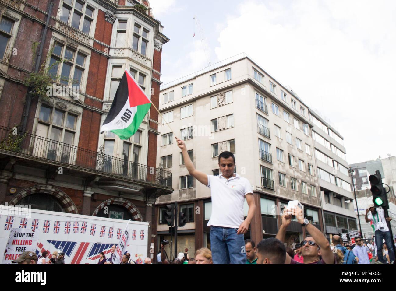 FOA - Free Gaza Demo - Stock Image