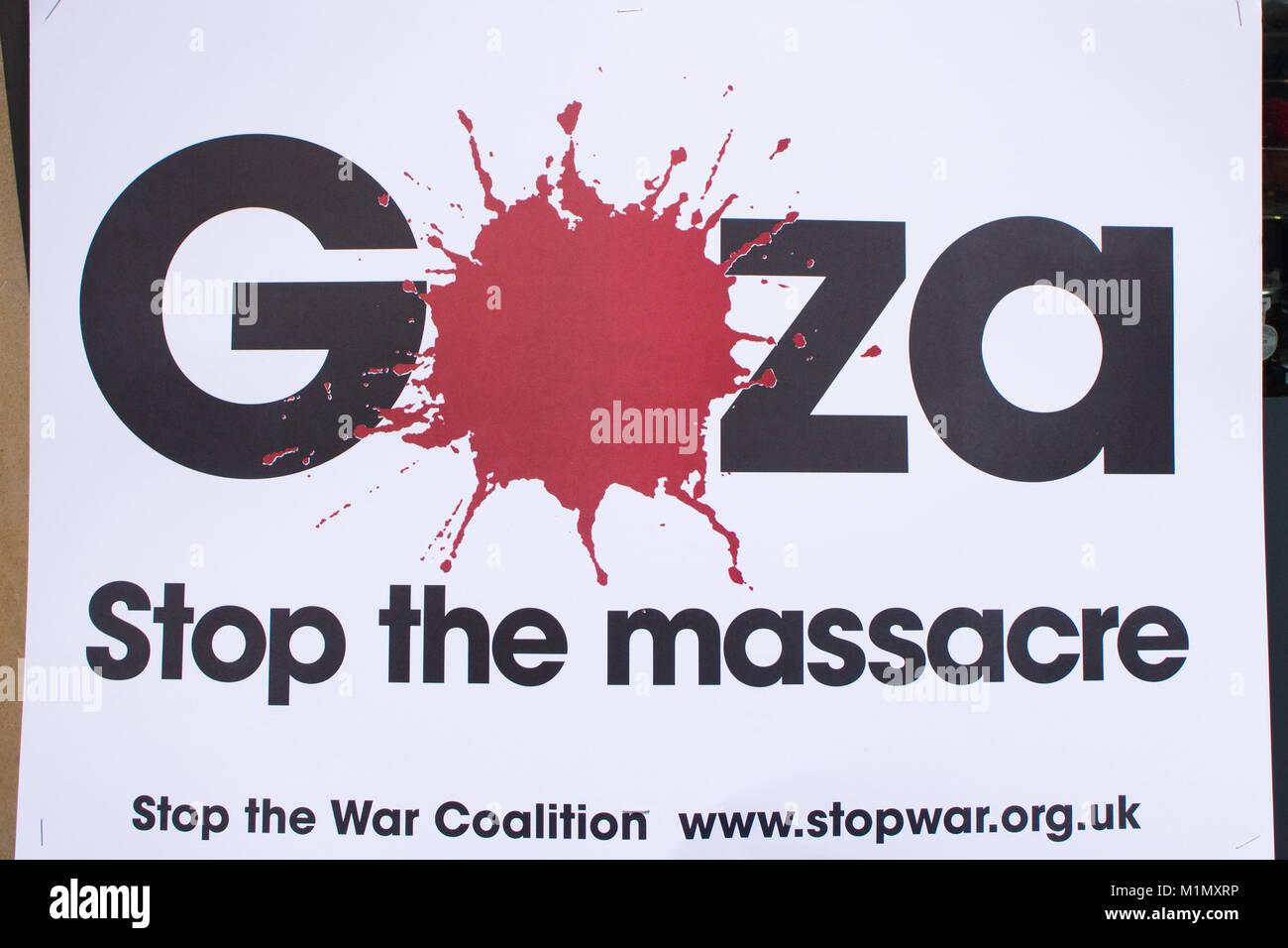 Gaza March - Stock Image