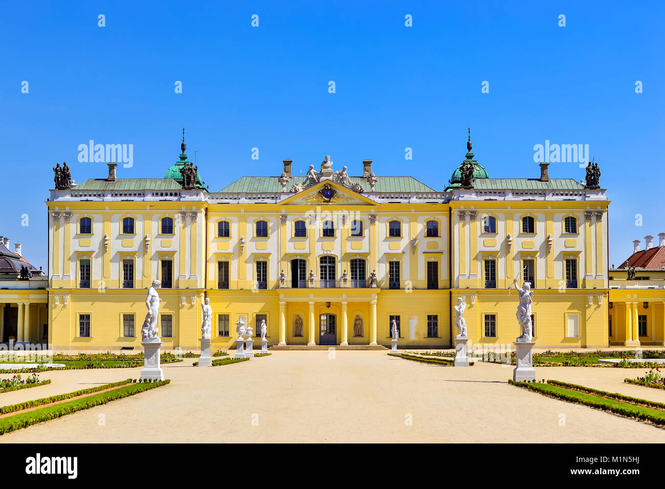 Branicki Palace and Medical University of Bialystok Clinical Hospitals in Poland. Architecture of baroque mansions - Stock Image