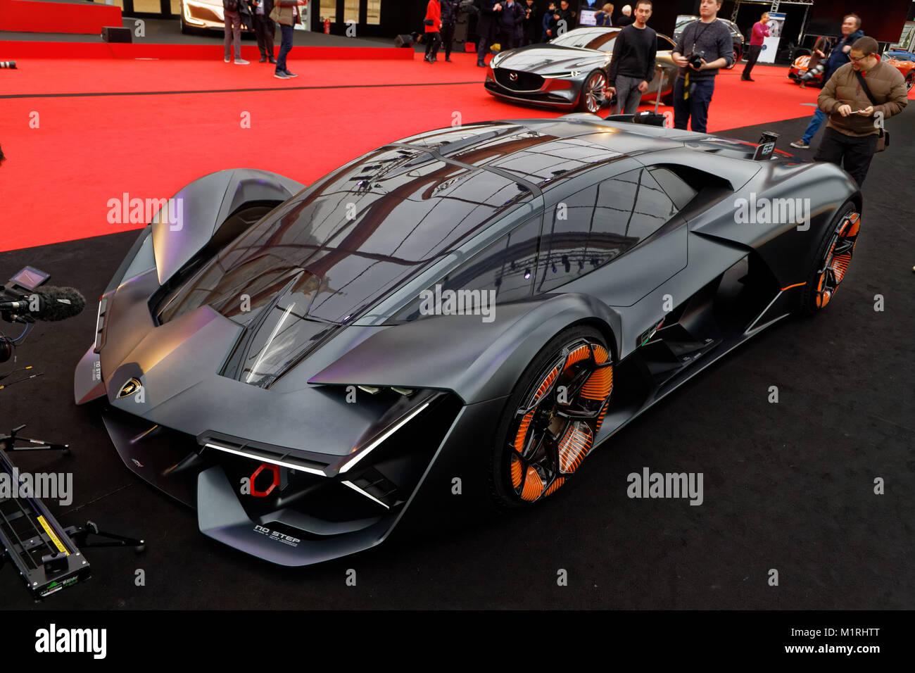 Paris France 31st January 2018 Lamborghini Terzo Millennio The