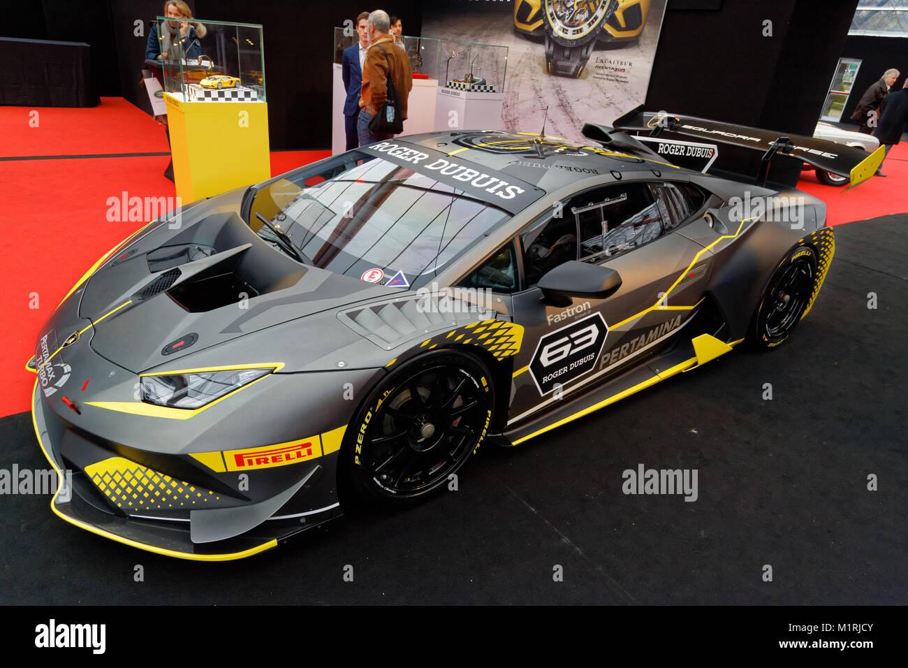 Paris France 31st January 2018 Lamborghini Huracan Trofeo The
