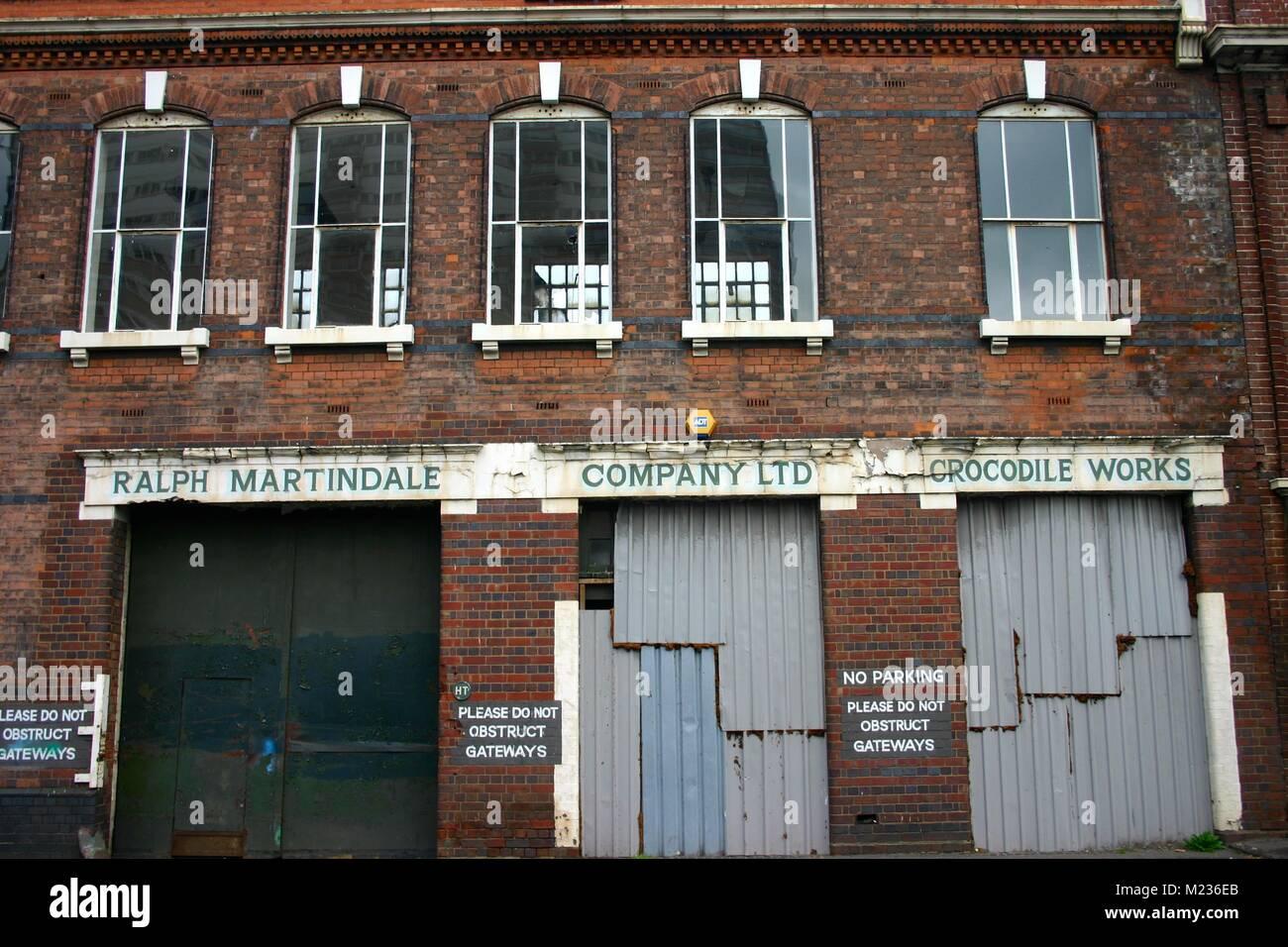 Old warehouse, Jewellery Quarter - Stock Image