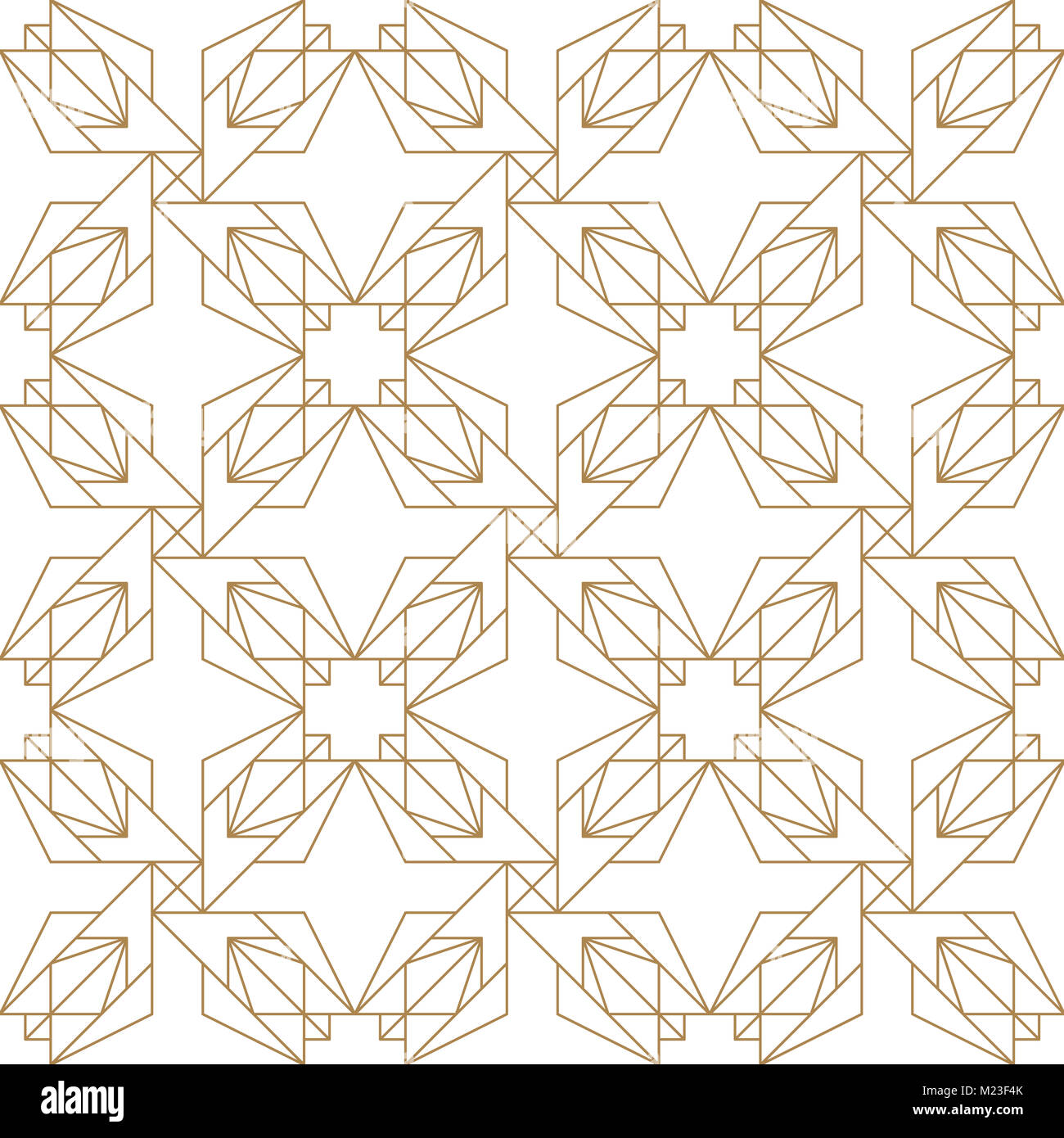 gold geometric simple minimalist pattern oriental gold line stock