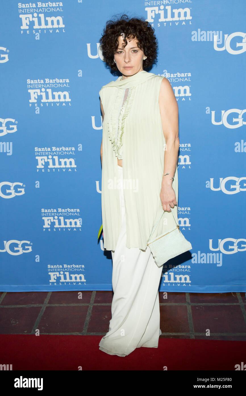 Santa Barbara, USA. 04th Feb, 2018. Lidia Vitale attends Santa Barbara Award, being presented to Saoirse Ronan, - Stock Image