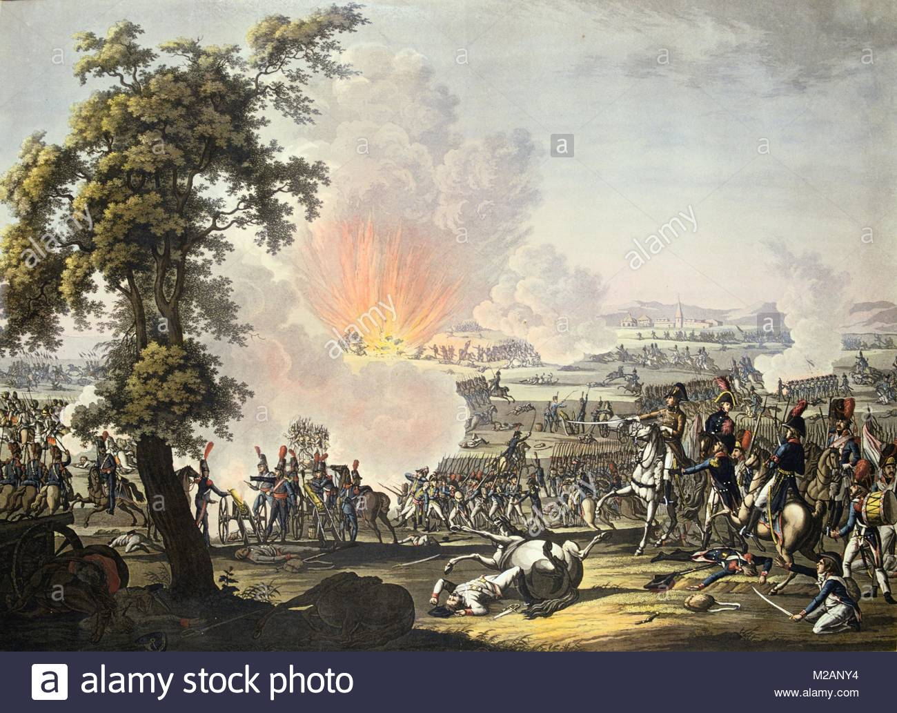 Napoleon at the Battle of Marengo, 14 June 1800 - Stock Image