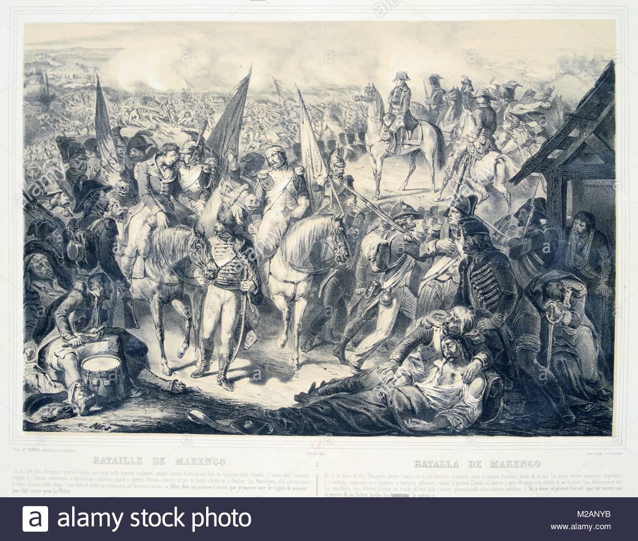 Battle of Marengo, 14 June 1800 - Stock Image