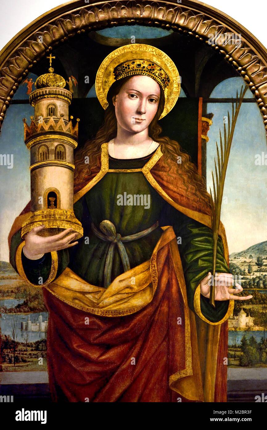 St Barbara 1500 unknown master 16th-century, Italian, Italy, - Stock Image