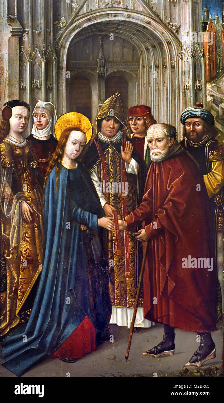 The Marriage of the Virgin1475 unknown Dutch Master, 15th-century, The Netherlands, Dutch, - Stock Image