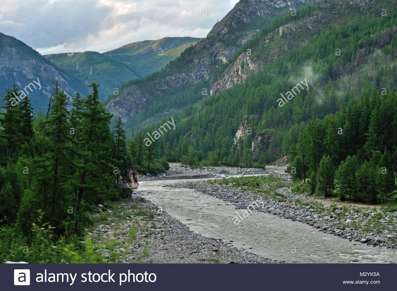 East Sayan, river 'Irkut' - Stock Image