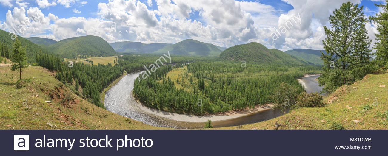 The river Irkut. East Sayan mountains - Stock Image