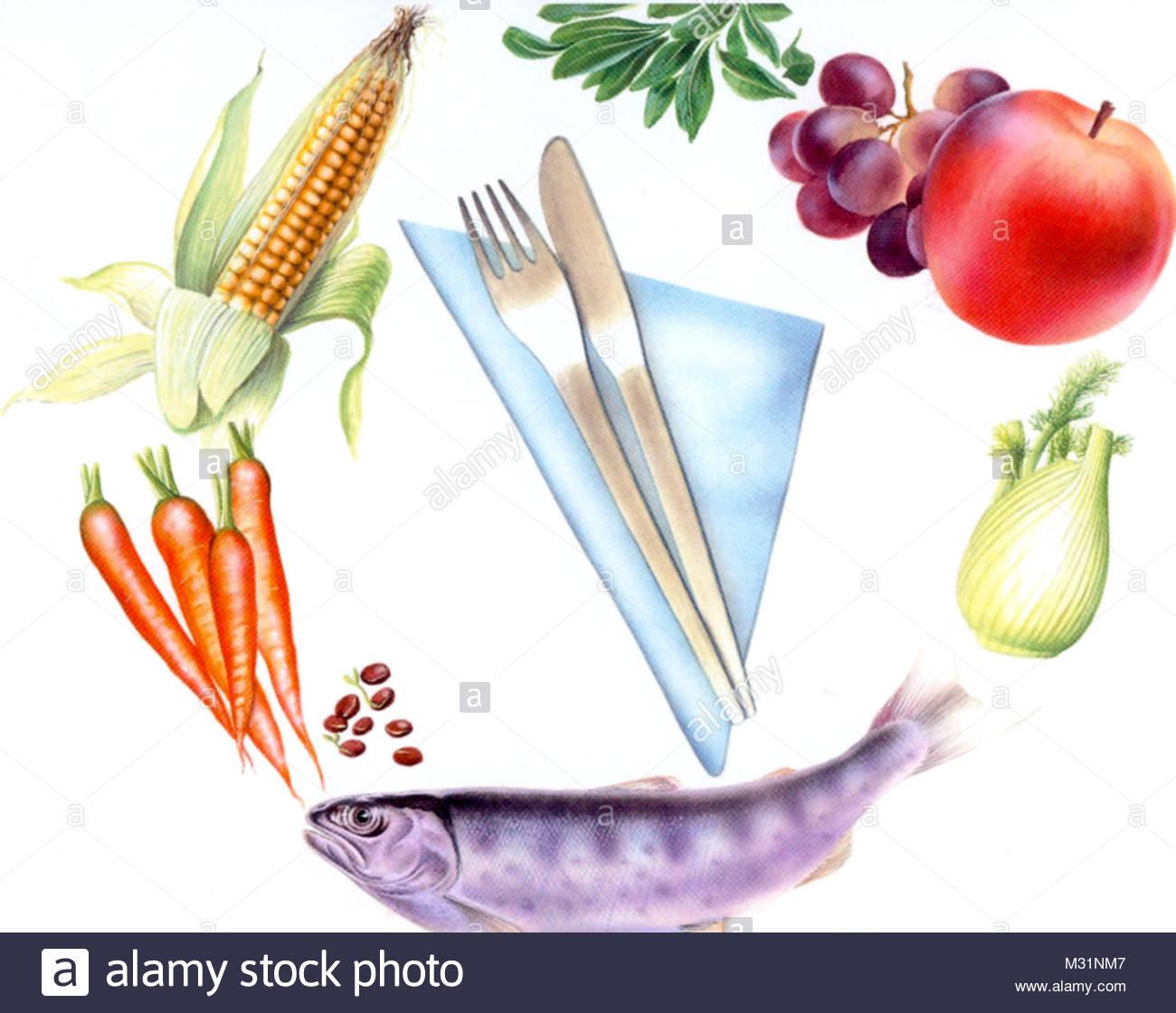 Healthy ernhren - Stock Image
