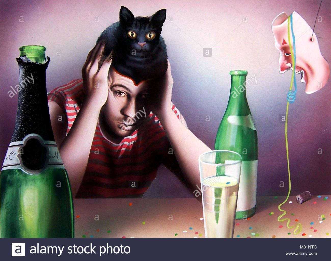 Hangover - Stock Image
