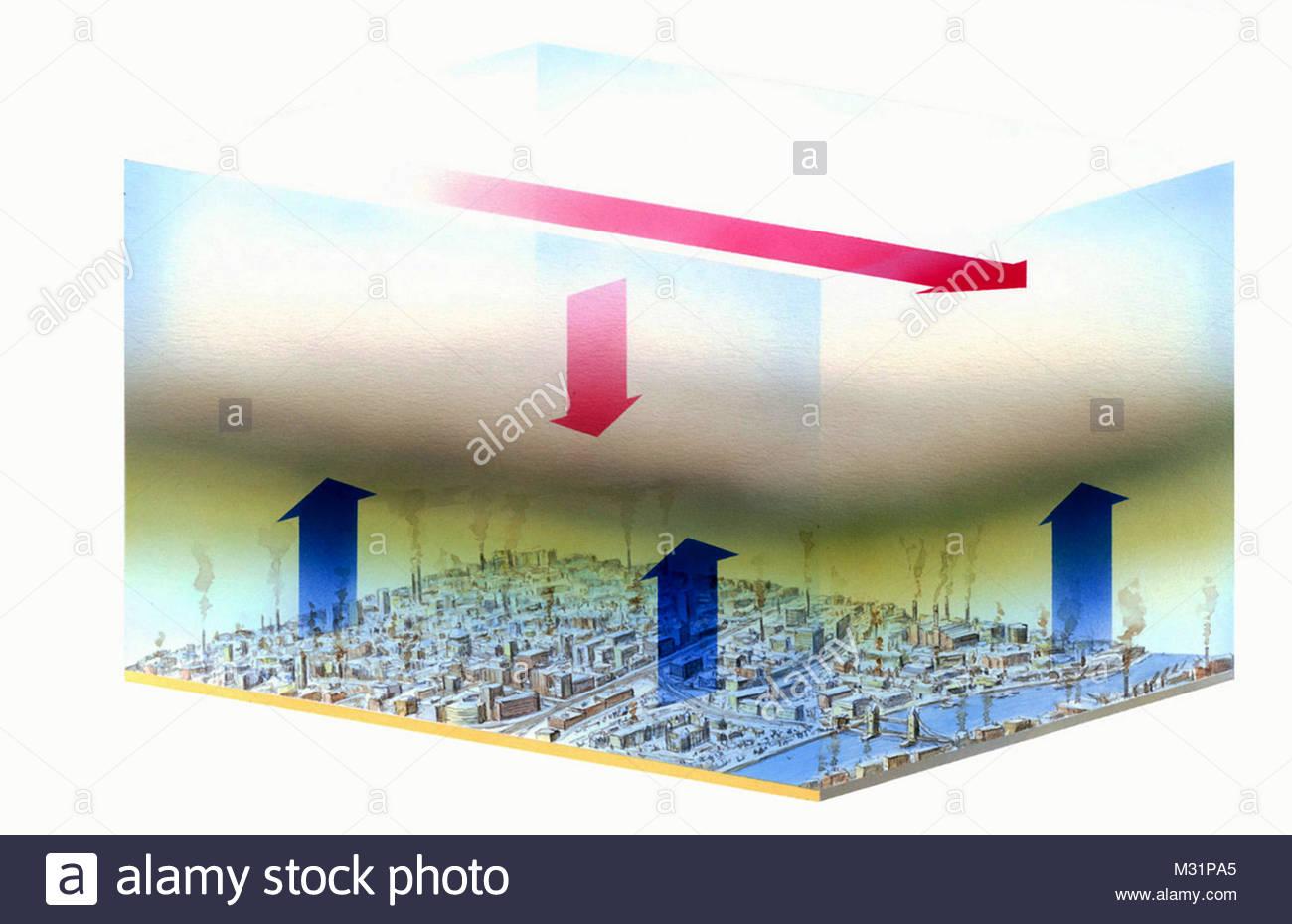 London Smog - Stock Image