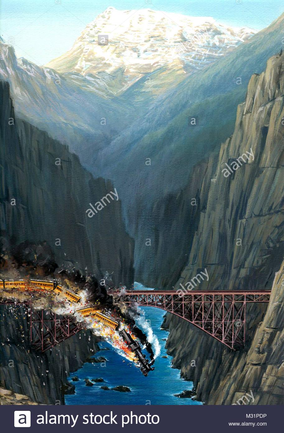 Eisenbahnunglck - Stock Image