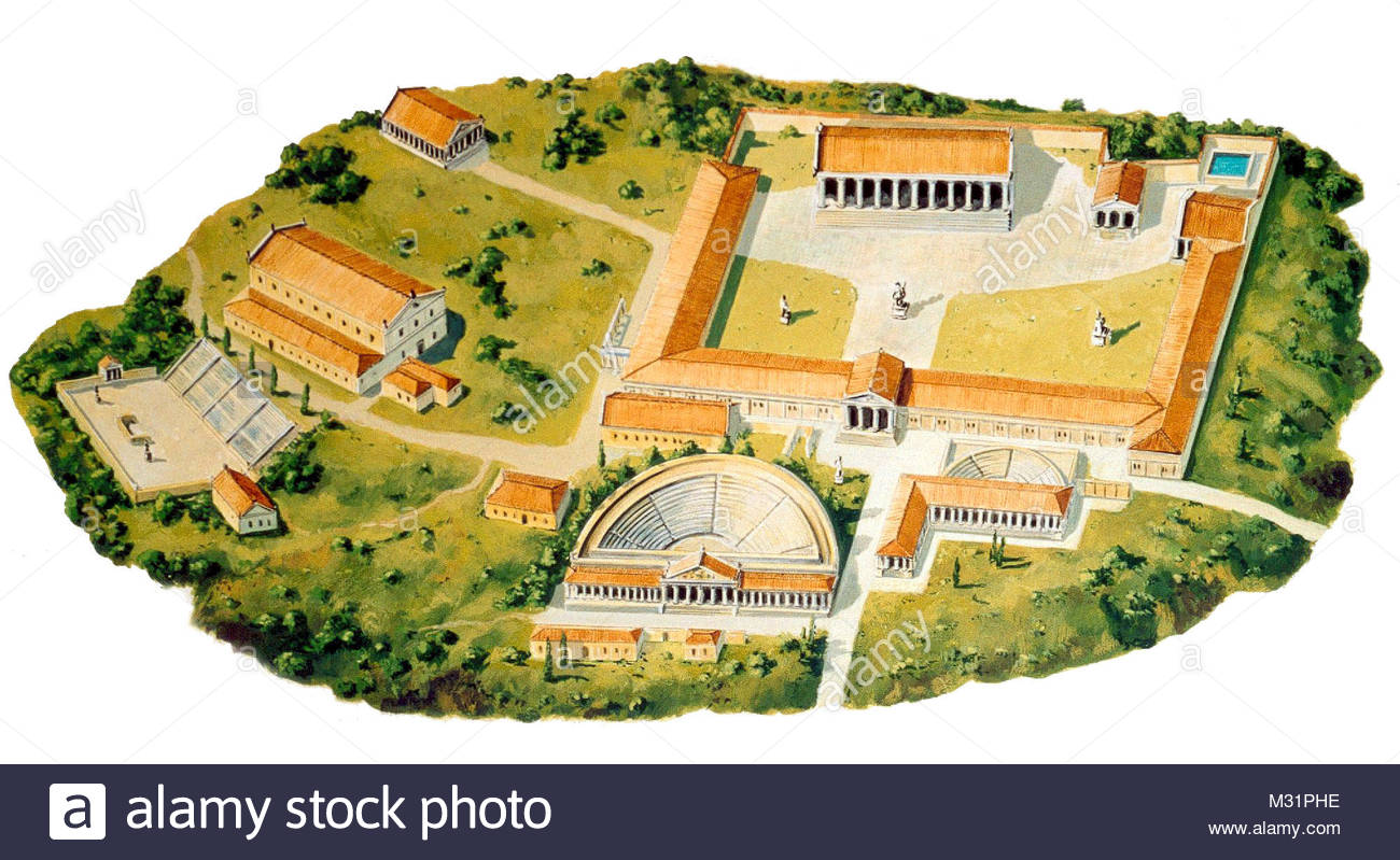 Troy 4 different congruent stadiums condition 3 - Stock Image