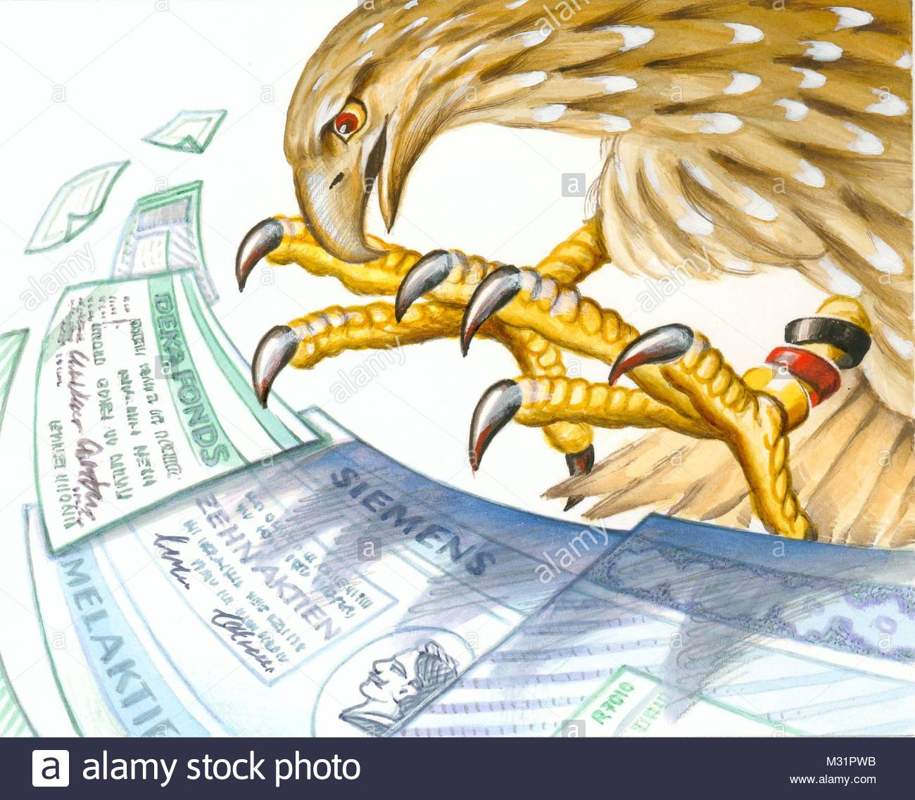 Eagle theft shares - Stock Image