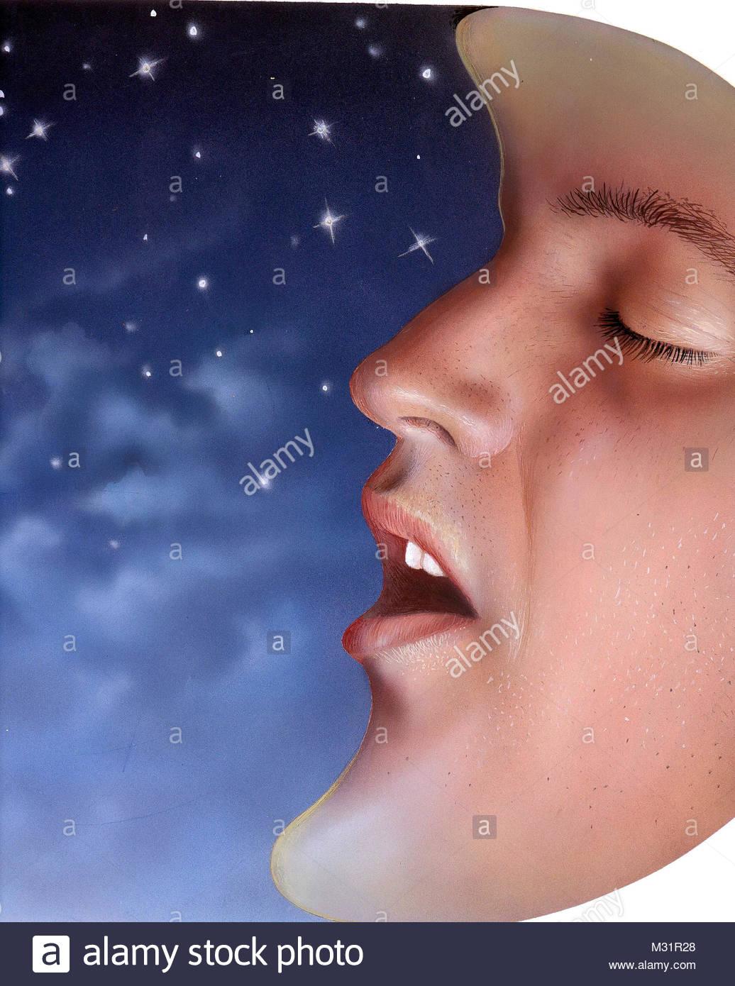 Snoring - Stock Image