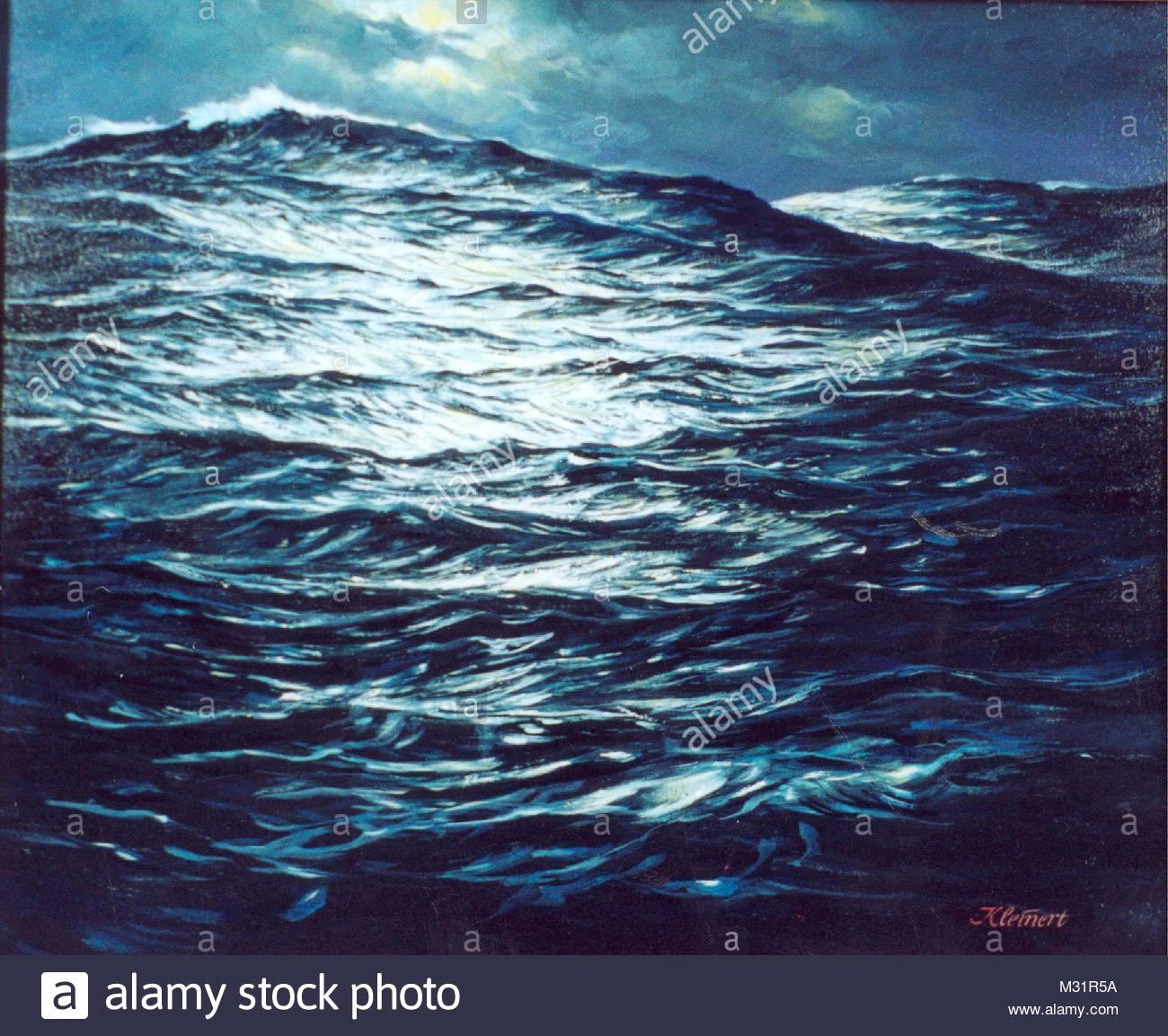 Atlantic night - Stock Image