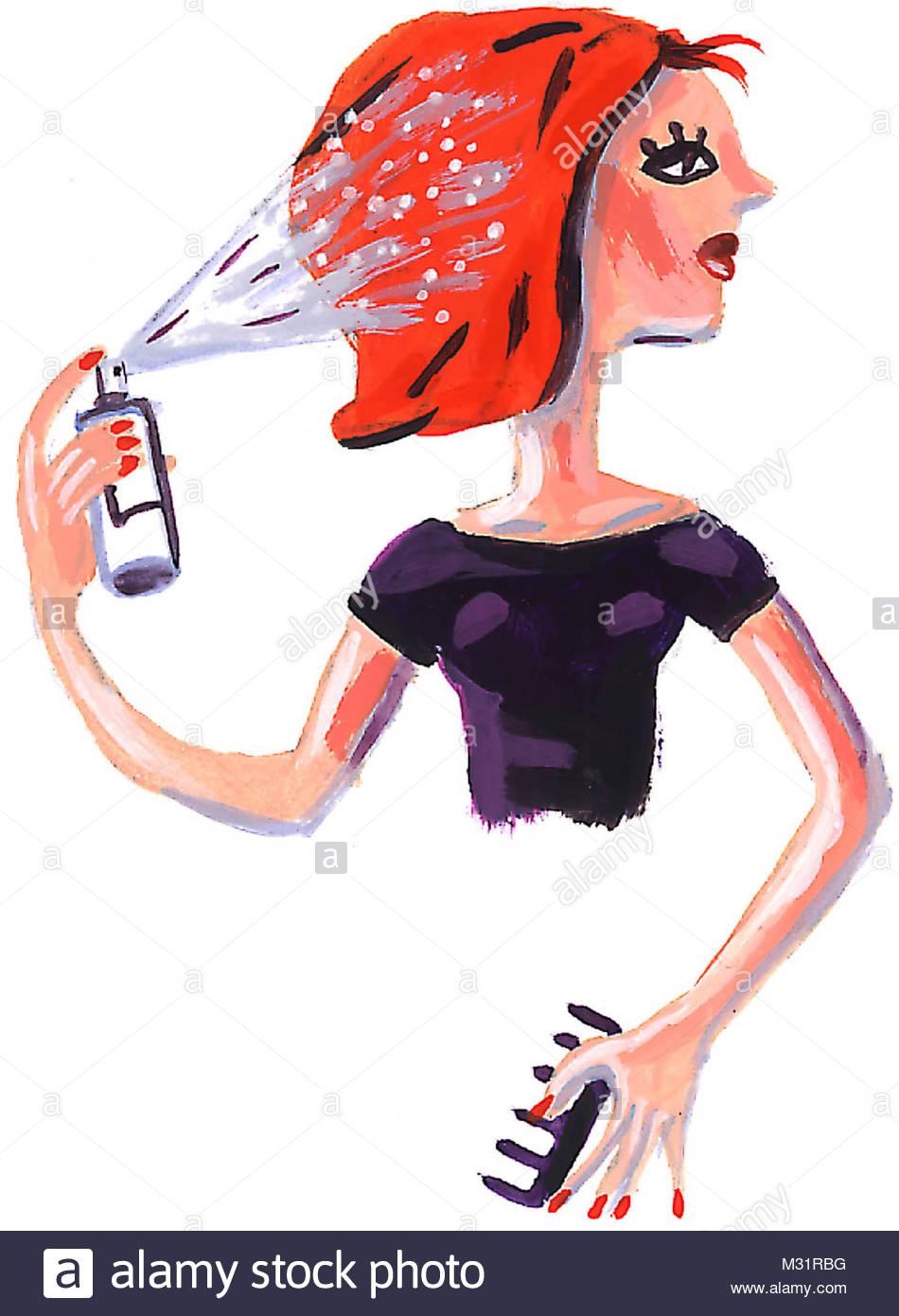 Hair Spray - Stock Image