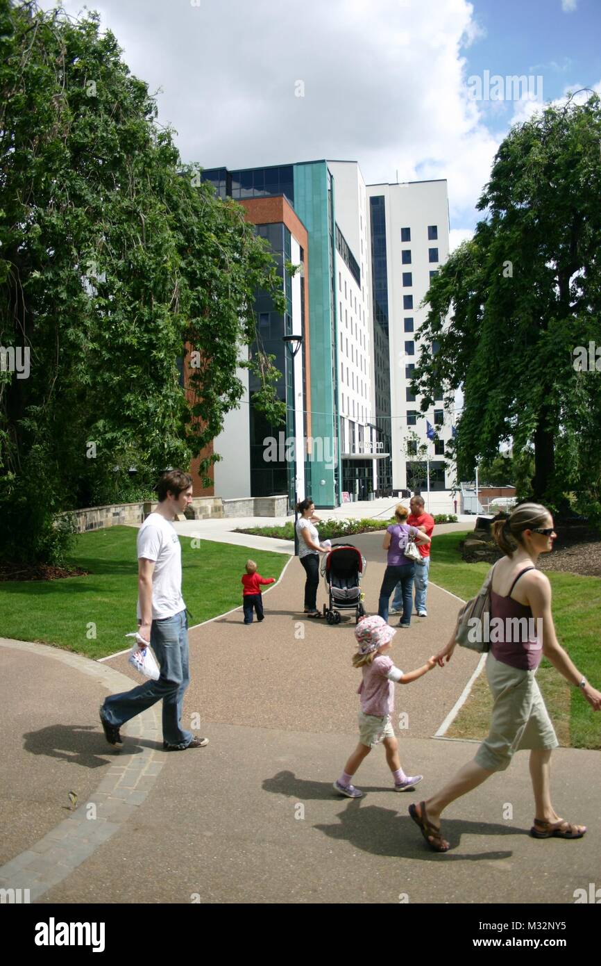 Summer in Derby city centre - Stock Image