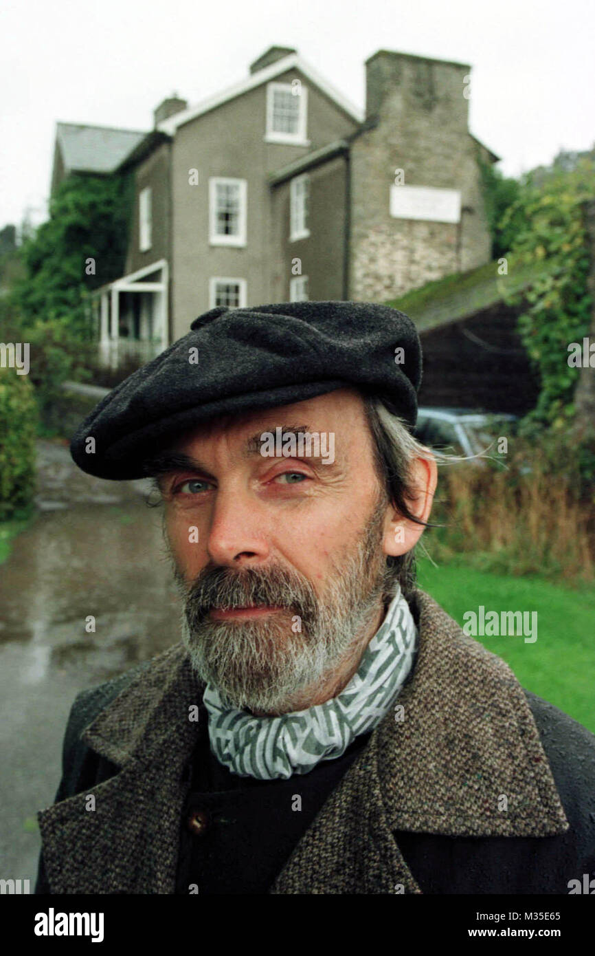 Artist Eugene Fisk outside Ashbrook House. Pictured while campaigning to prevent a new housing development in Clyro. - Stock Image