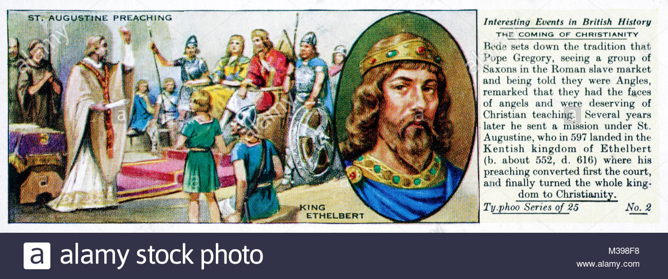 Interesting Events in British History - The Coming of Christianity - Stock Image