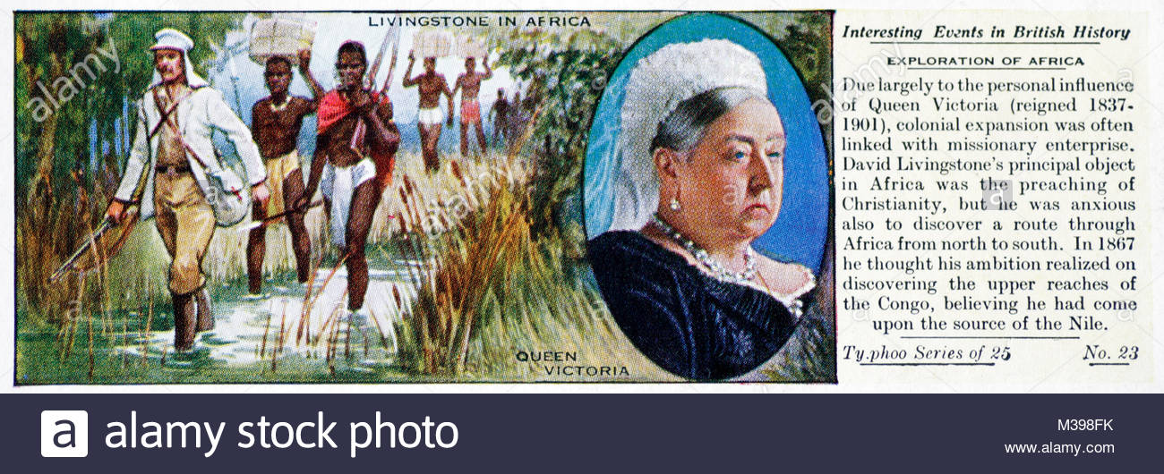 Interesting Events in British History - Exploration of Africa - Stock Image