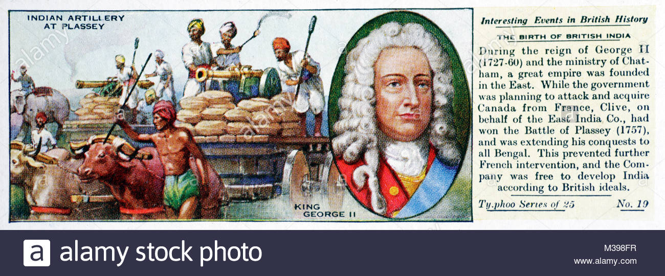 Interesting Events in British History - The Birth of British India - Stock Image