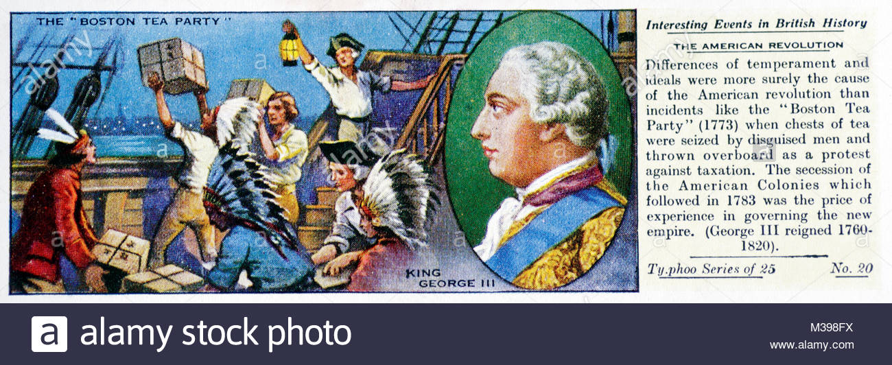 Interesting Events in British History - The American Revolution - Stock Image