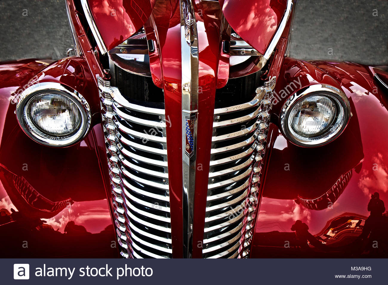 Red Classic Auto - Stock Image