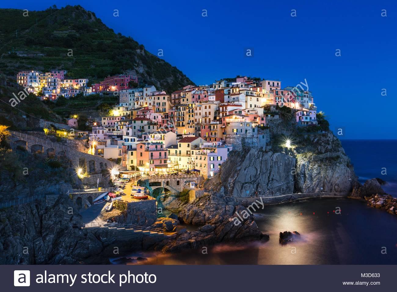 Manarola,Cinque Terre Italy - Stock Image