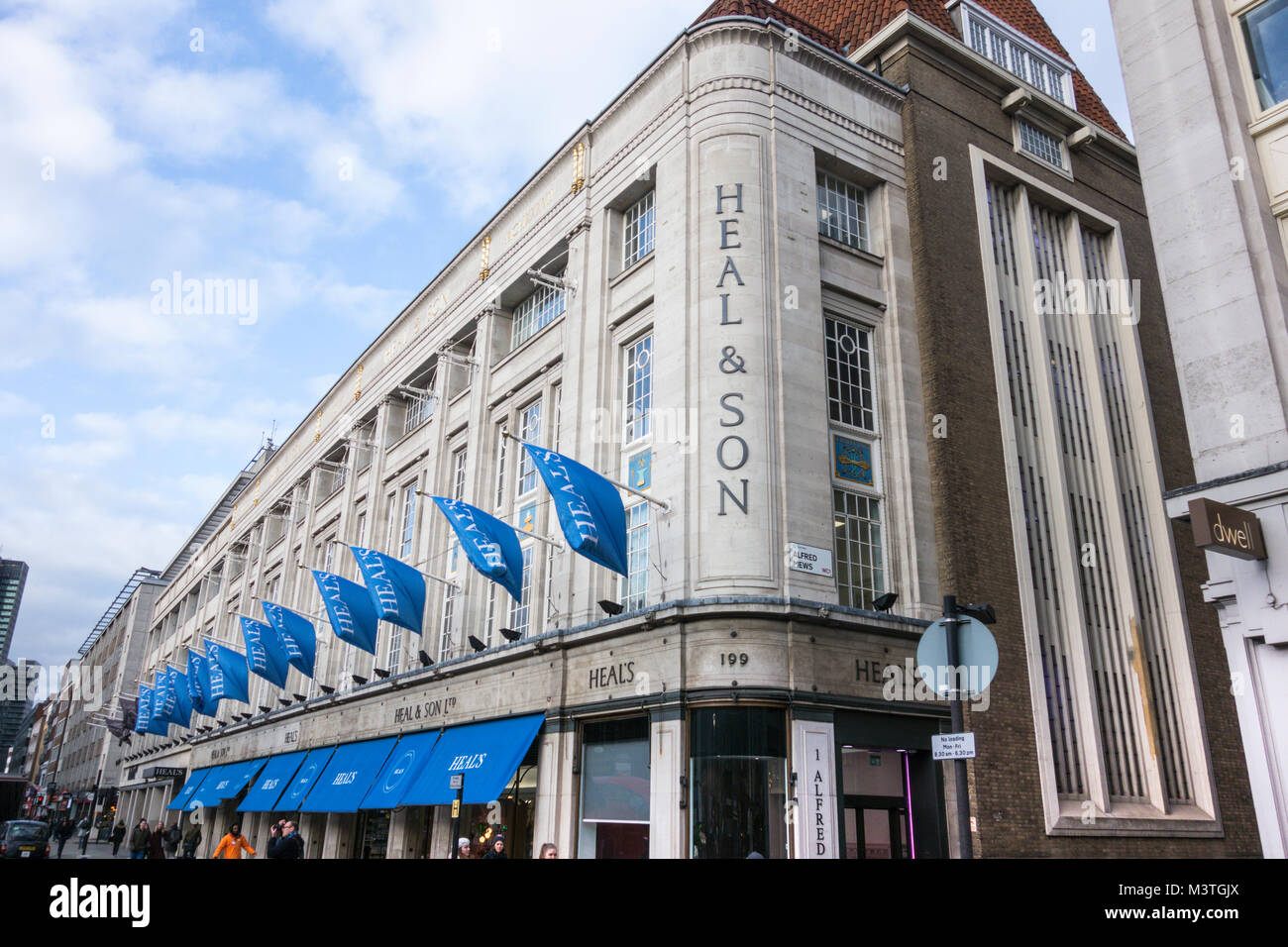 Heals & Son Department store on Tottenham Court Road, London, UK Stock Photo