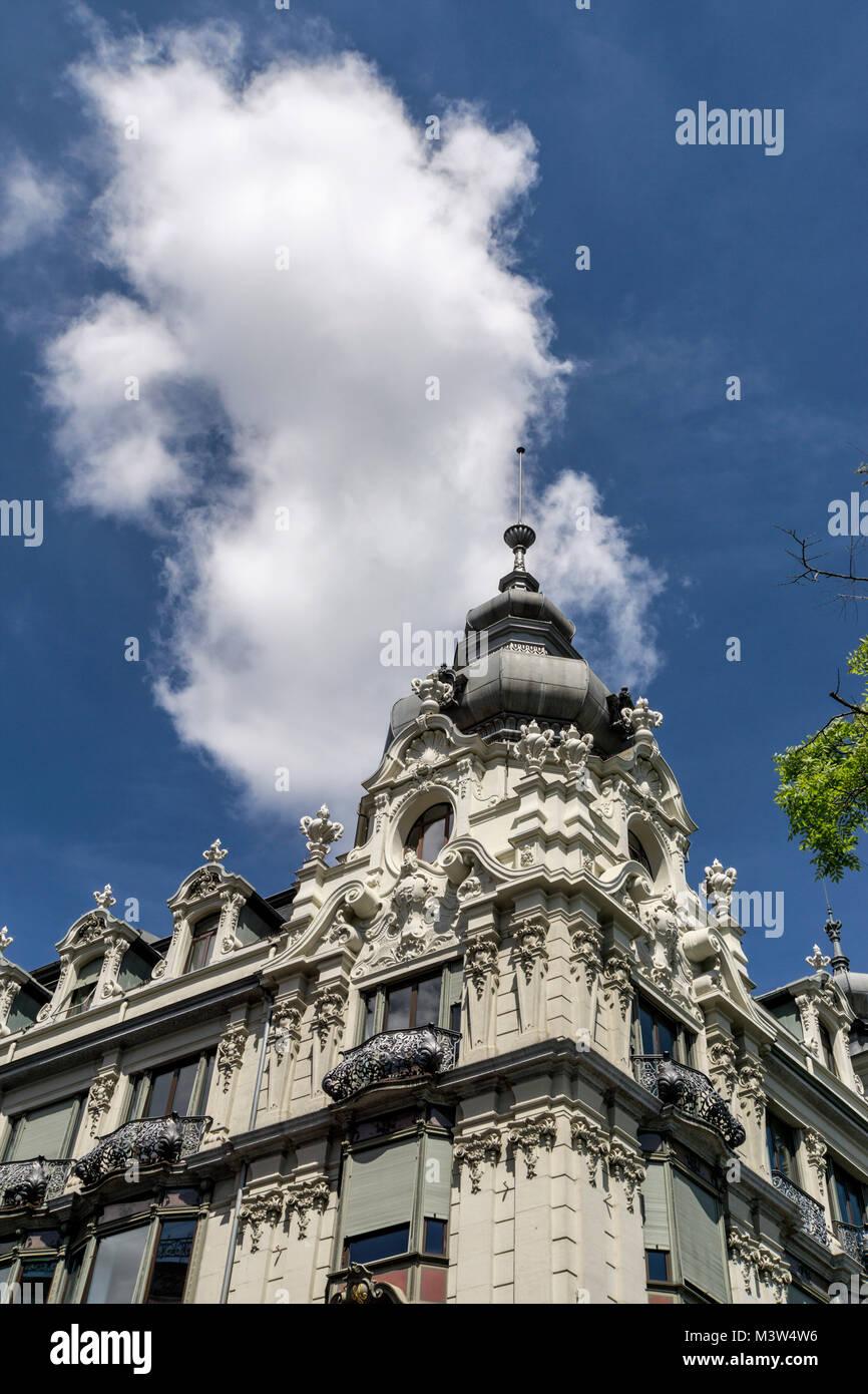 Monopol building, neo baroque architecture, Zurich, switzerland - Stock Image