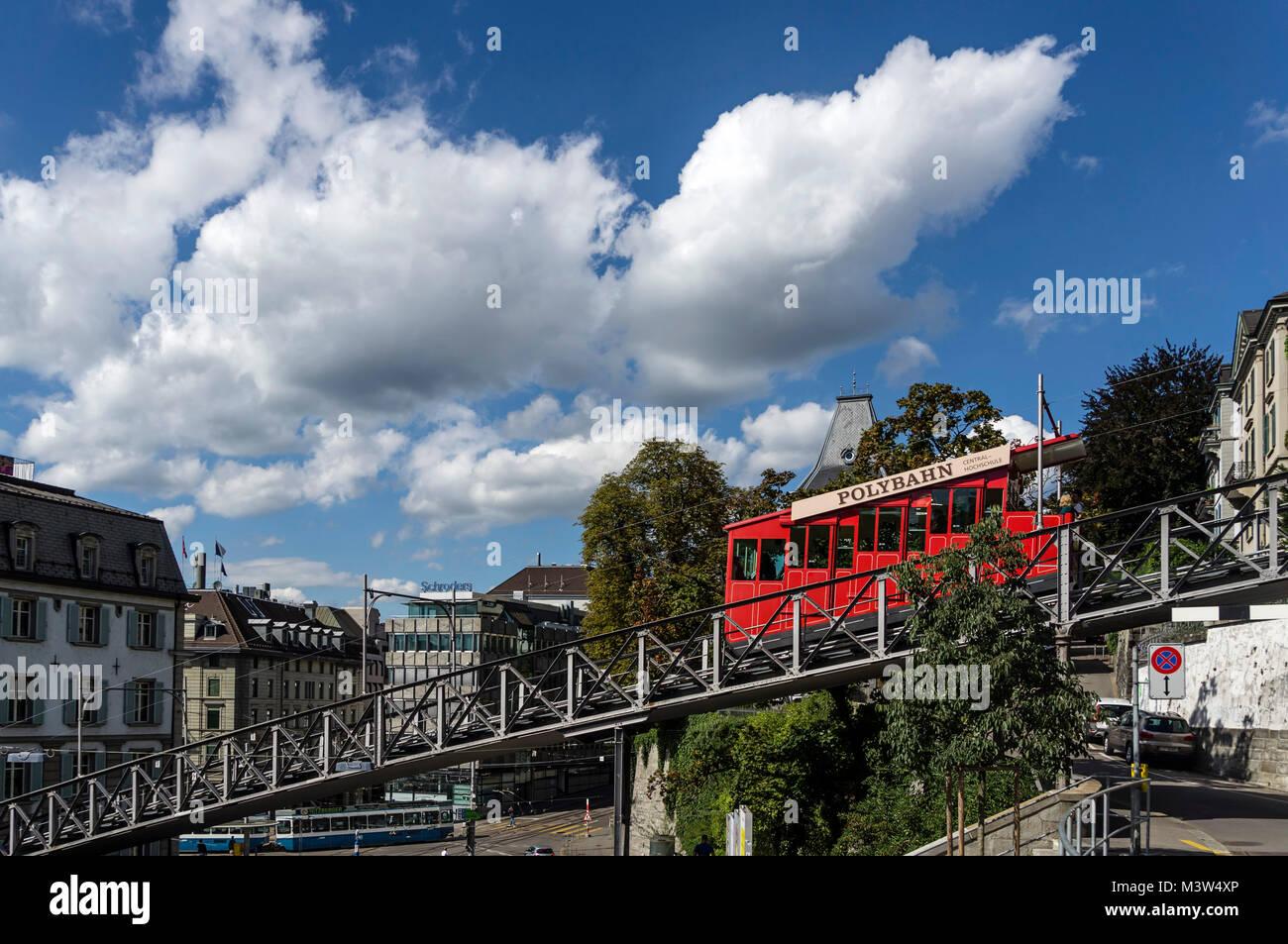 Polybahn at Central, Zurich, Switzerland - Stock Image