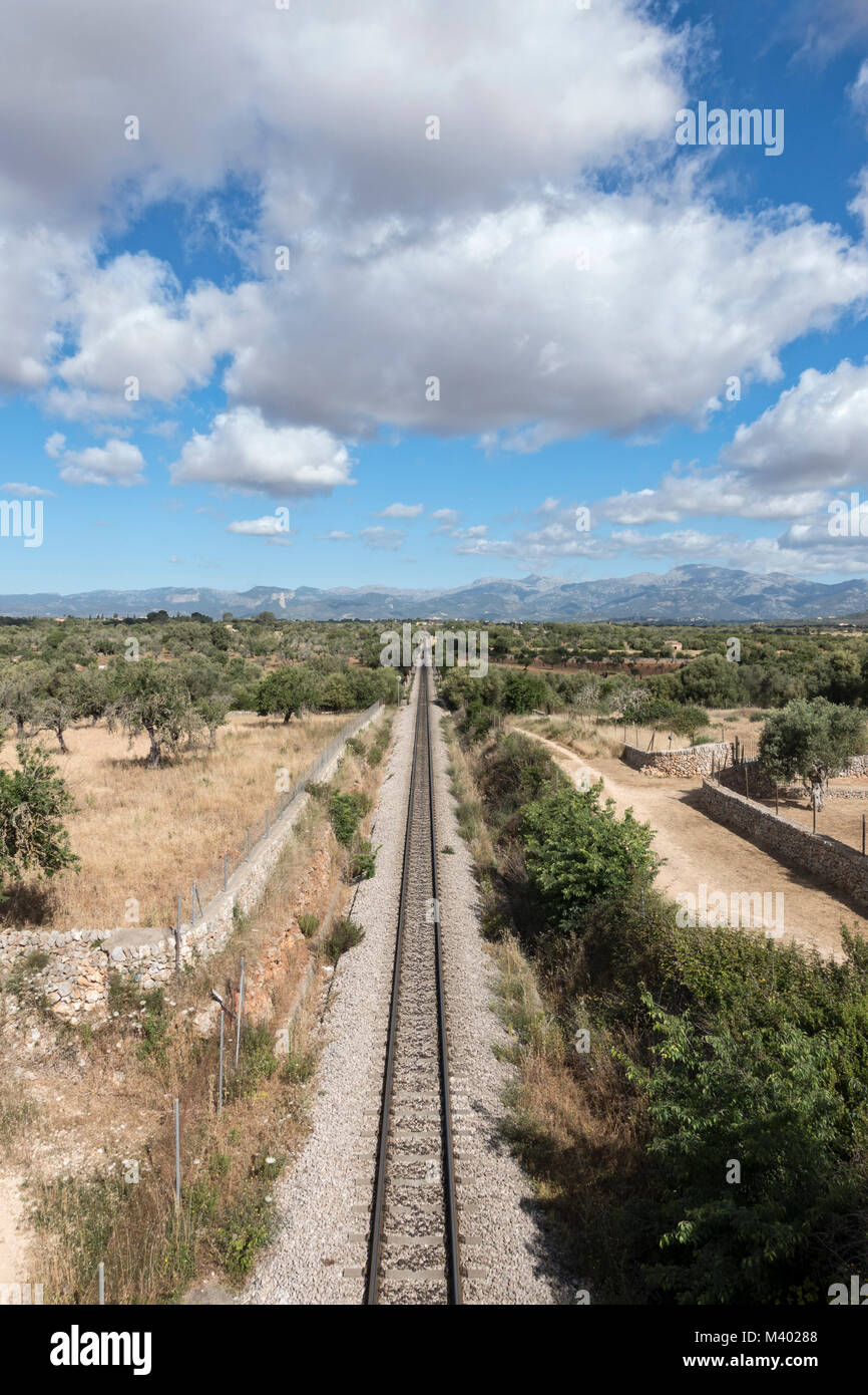railway.Mallorca Island.Spain - Stock Image