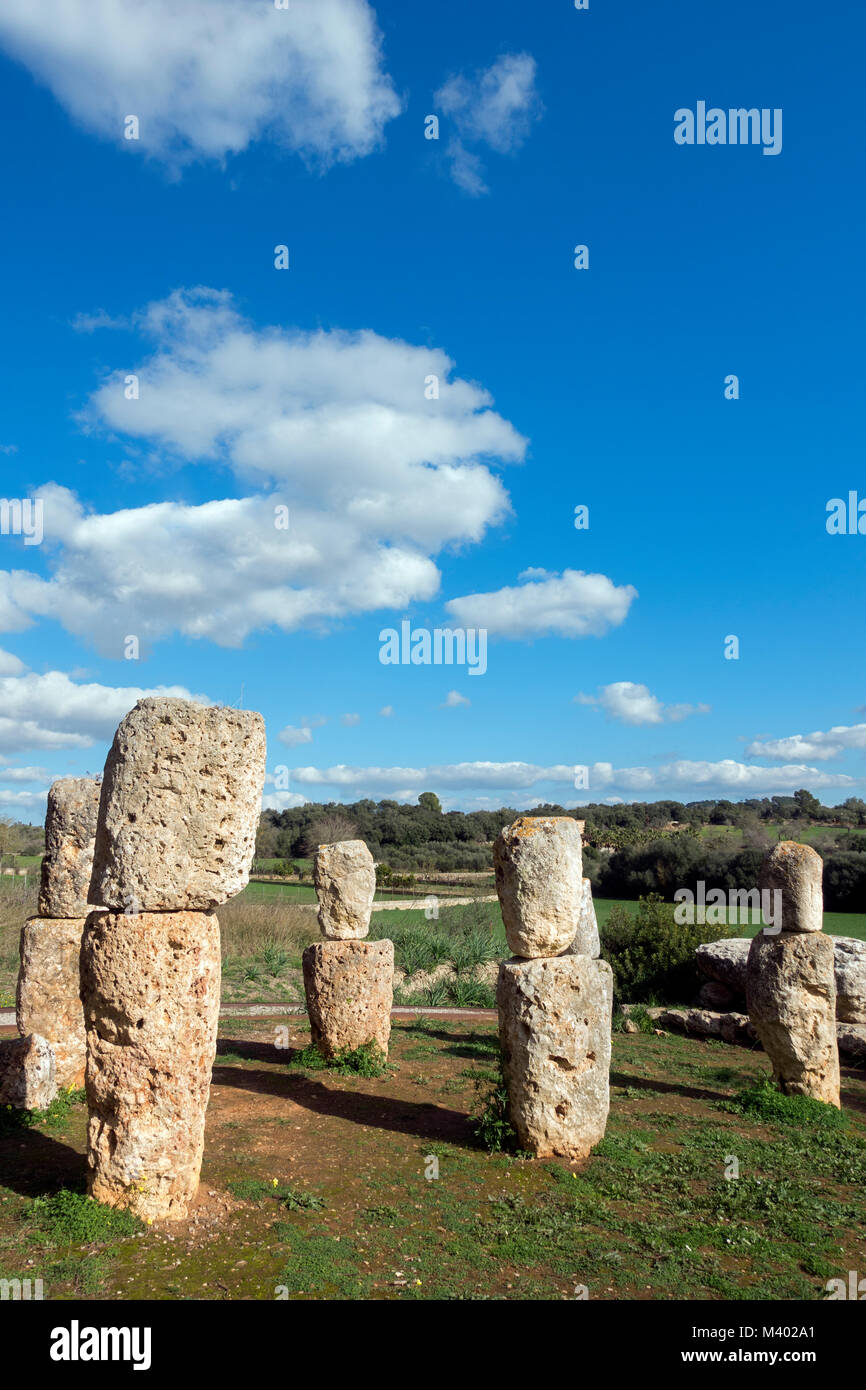 Son Corró sanctuary.Archaeological site.Costitx.Mallorca Island.Spain - Stock Image