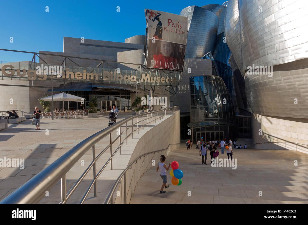 Guggenheim Museum.Bilbao.Spain - Stock Image