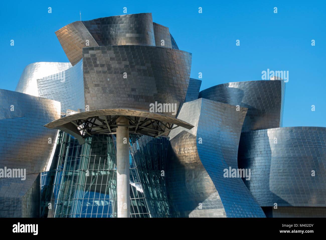 Guggenheim Museum.Architect:Frank Gerhy.Bilbao.Vizcaya.Spain - Stock Image