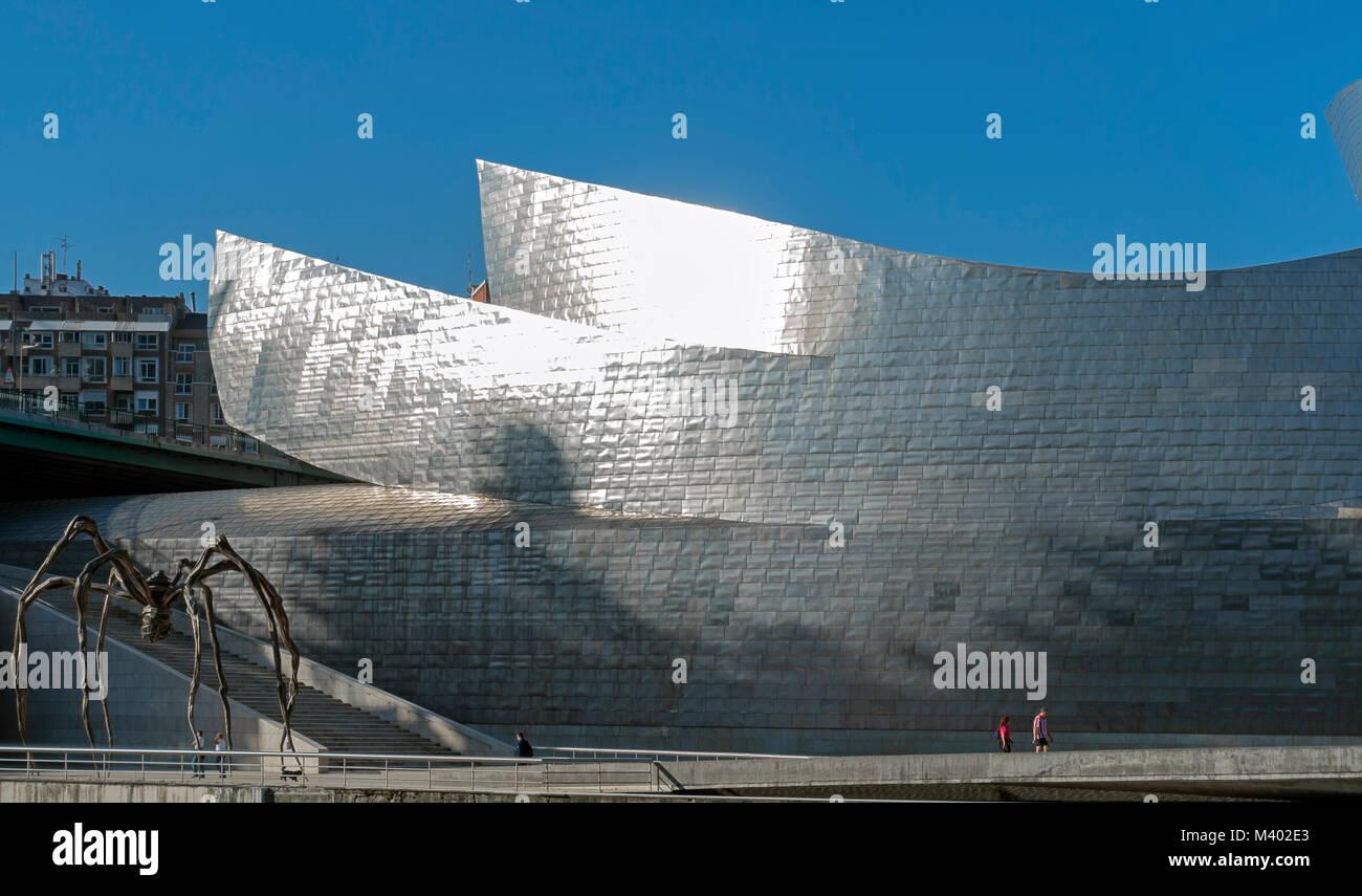 Guggenheim Museum.Bilbao.Vizcaya.Spain - Stock Image