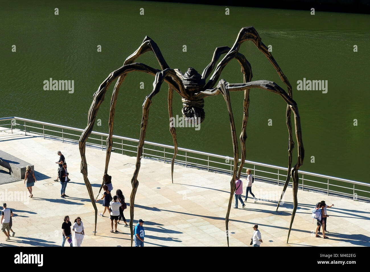 Giant spider sculpture.Title:Maman (mother).Artist:Louise Borgeois (1911-2010).Guggenheim Museum.Bilbao.Spain - Stock Image