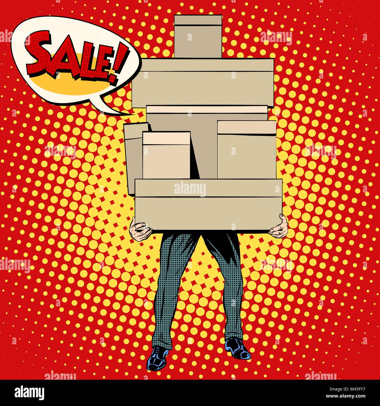 Buyer shopping sale - Stock Image
