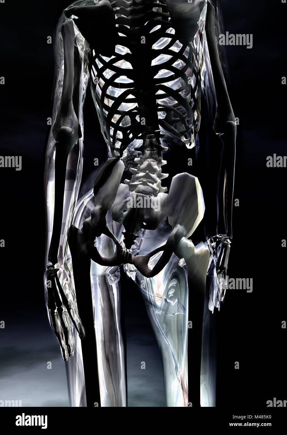 Gläserner weiblicher Körper - Glassy female body Stock Photo ...