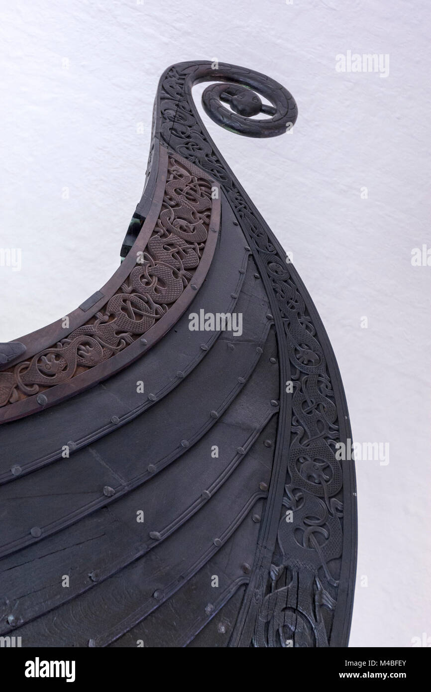 Oseberg Ship in Viking Ship Museum, Huk Aveny, Oslo, Norway Stock Photo