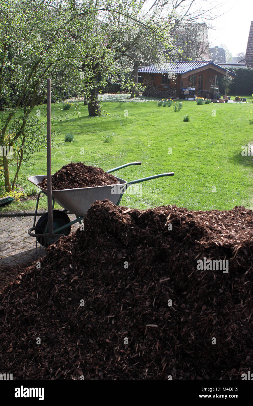 comely garden mulch home depot. Bark Mulch Garden Stock Photos  Images Alamy Famous Pictures Inspiration Beautiful dlix us