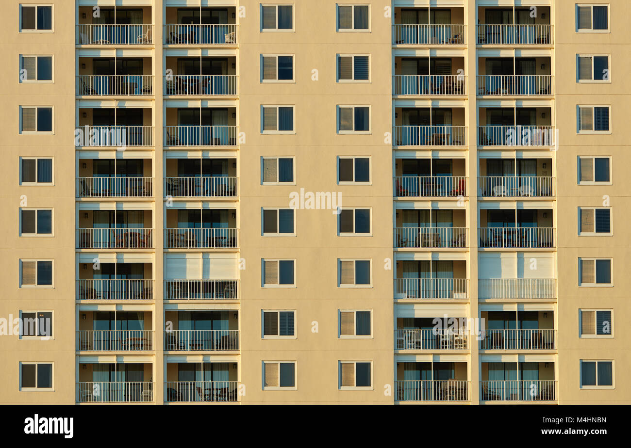 Beachfront condominium, Gulf Shores, Alabama - Stock Image
